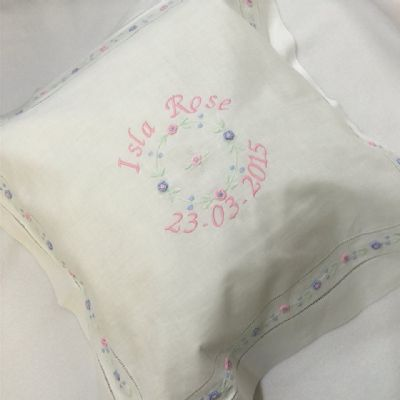 Personalised Christening  Cushion Cover